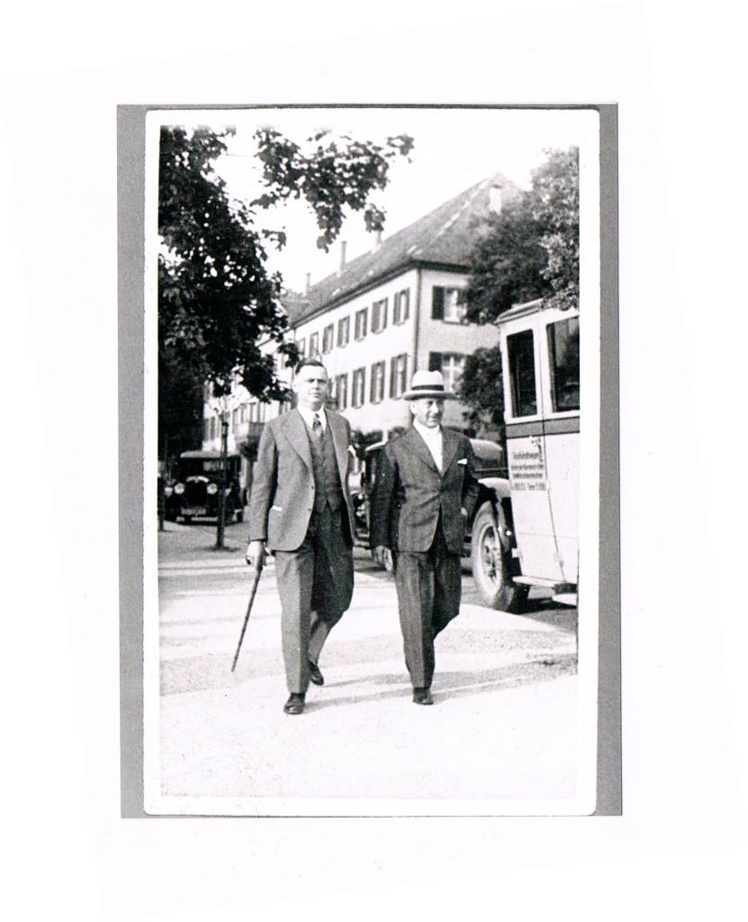 von links Hugo Streit und Hermann Urich Sass