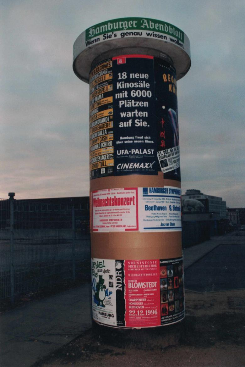 Litfasssäule Dezember 1996 Hamburg Schlachthof Foto Jens Meyer