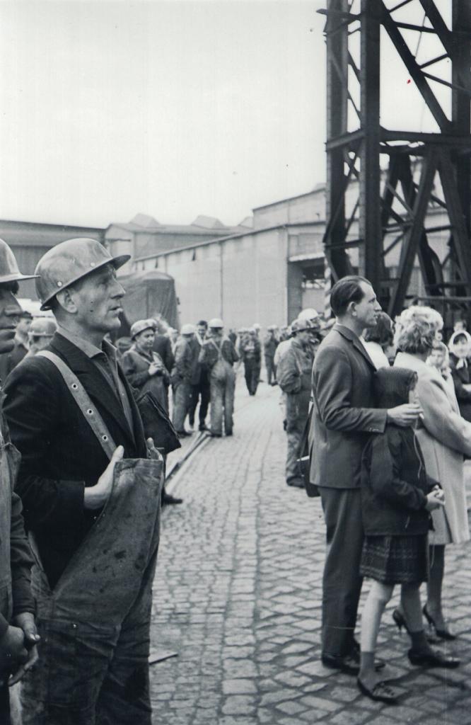 Howaldtswerke (HDW) am 18. September 1964. Stapellauf des Schiffes Maratha Progress, Heimathafen Bombay. Foto von Jens Meyer
